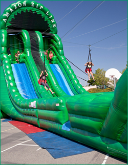 Kids Party Venue Maryland Inflatable Zipline
